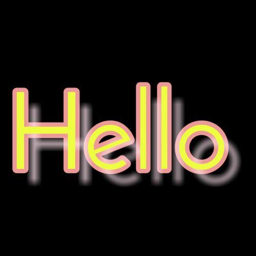 Text Hello