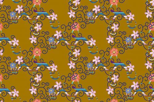 textile design flowers pattern