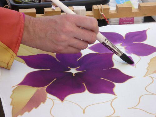textile painting silk textile color