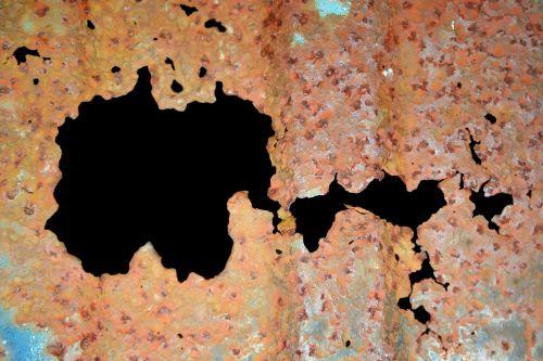 rūdys, rusvas, skylė, tekstūra, dėvėti, sunaikintas, tamsi, linijos, tekstūros rūdys 2
