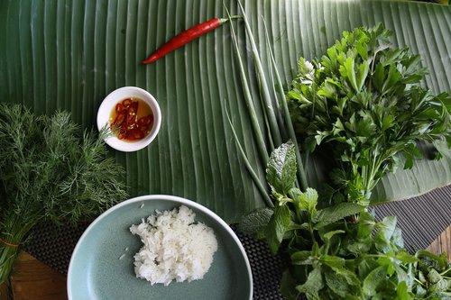 thai ingredient  jasmine rice  thai herbs