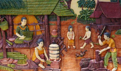 thailand village scene