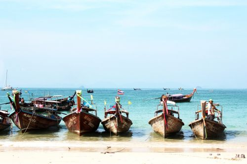 thailand beach fishing boats