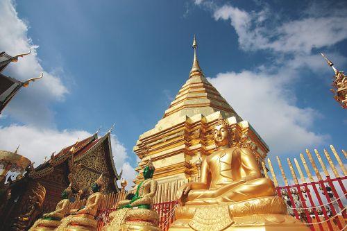 thailand temple doré
