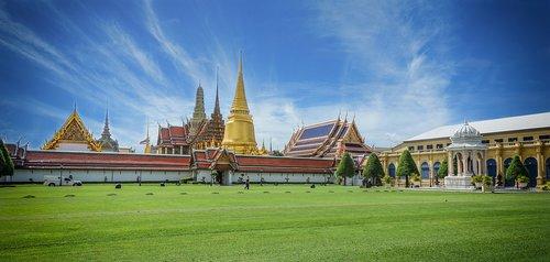 thailand  big palace  grassland