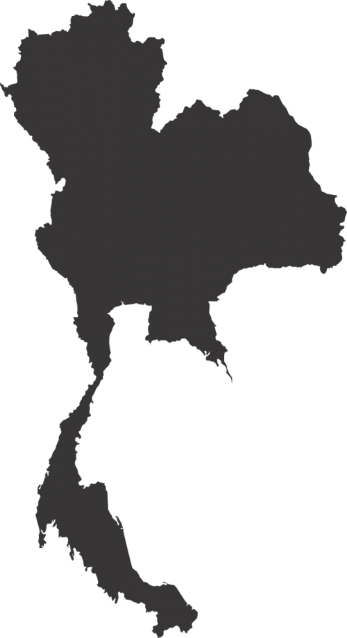 thailand map map vector silhouette