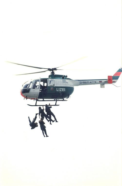 than police helicopter use