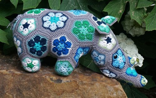 thandi the rhinoceros african flower design heidi bears design