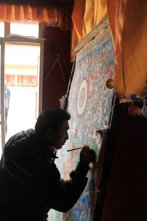 thangka in tibetan areas artist