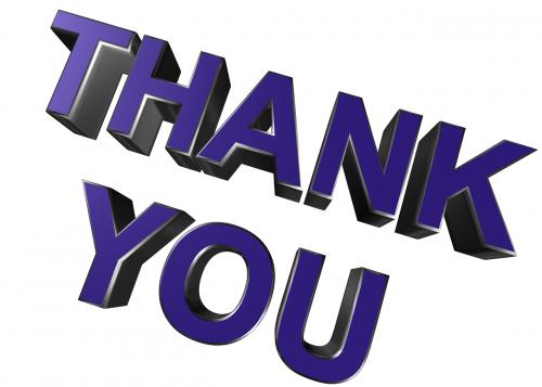 thank you thanks gratitude
