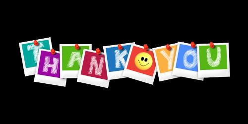 thank you polaroid letters