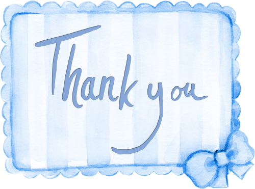 thank you sentiment card