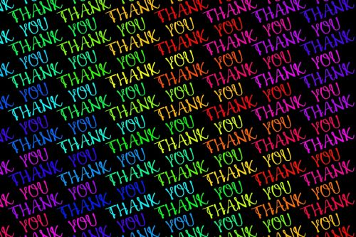 thank you font colorful