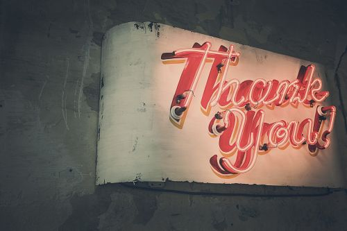 thank you neon lights neon