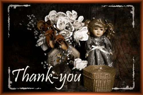 thank you greeting doll