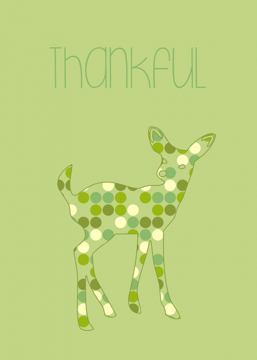thankful green bambi