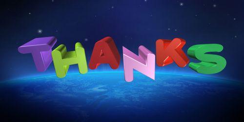 thanks thank you gratitude