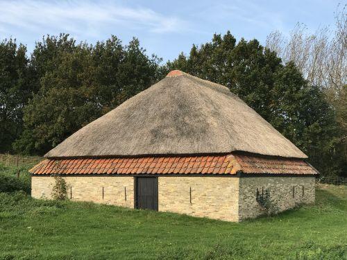 thatched sheep barn north sea