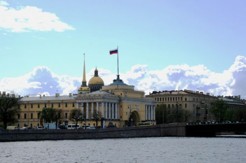 The Admiralty From The Neva River
