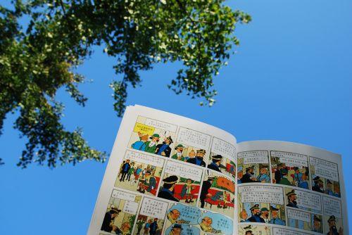 the adventures of tintin cartoon blue sky