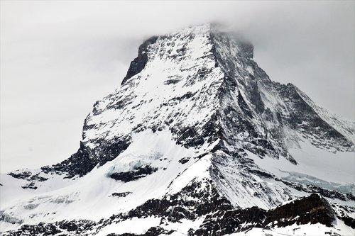 the alps  matterhorn  snow