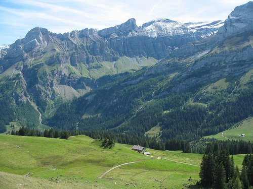 the alps  view  nature