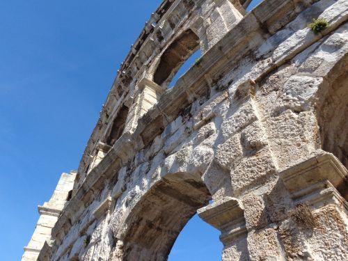 the amphitheater pula croatia