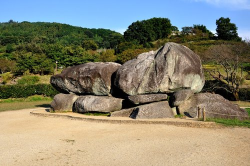 the ancient ishibutai burial mound  mounds  the stone stage