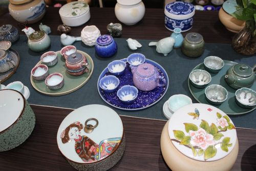 the ancient town green-glazed ceramics