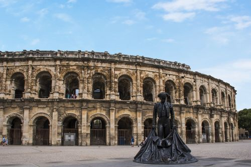 the arena of nîmes france torero