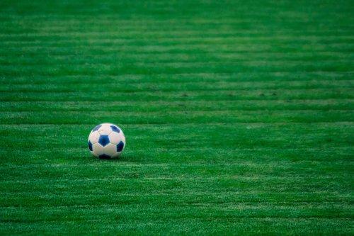 the ball  football  green