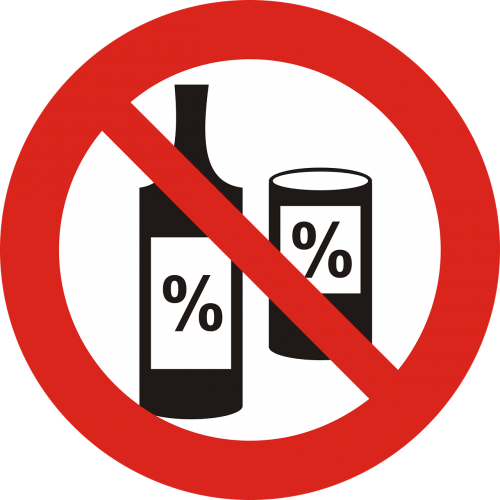 the ban on alcohol sign the prohibition of