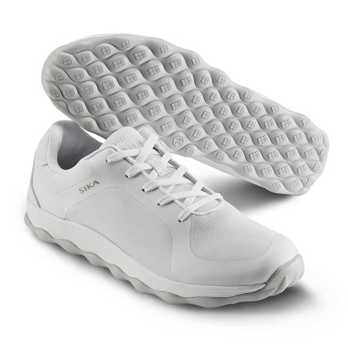 the barber's shoes white  service shoes  sika shoes