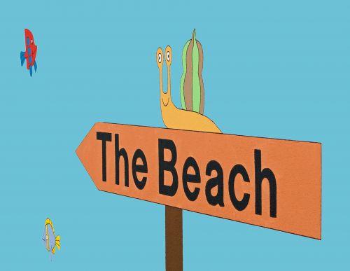 The Beach Sign