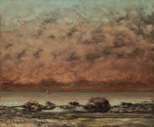 The Black Rocks At Trouville, 1865