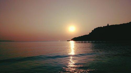the black sea  sunrise  chill