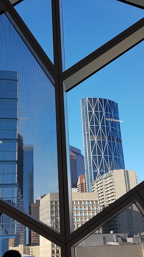 the bow  calgary  skyline