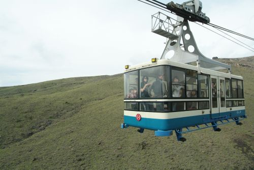 the cable car ropeway aso