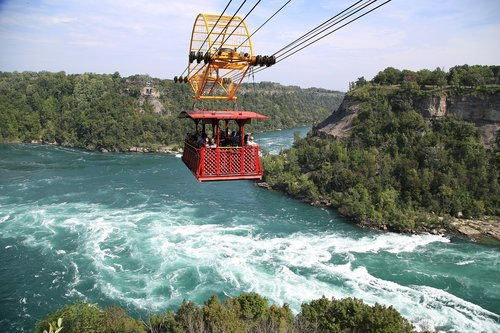 the cable car  waterfall  water