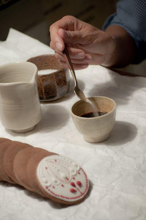 the cake coffee ceramics