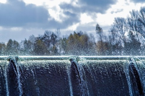 the cascading water  waterfall  the firewall