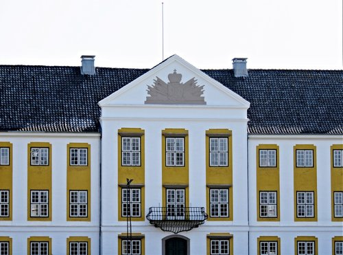 the castle of augustenborg  denmark  built in the 18th century