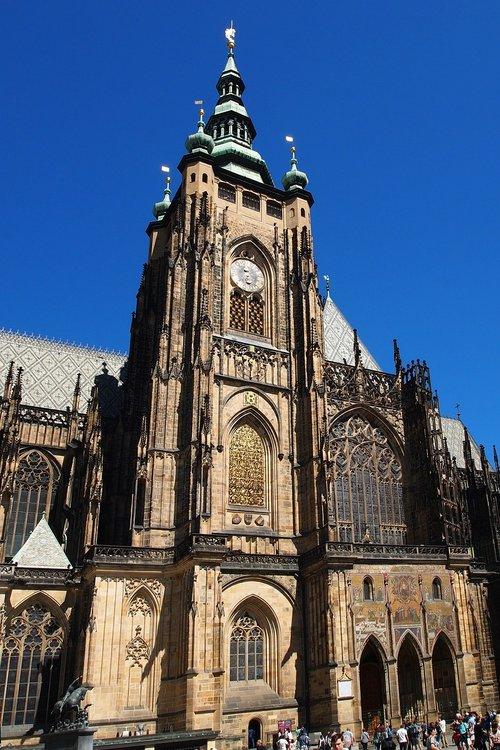 the cathedral  czech republic  prague