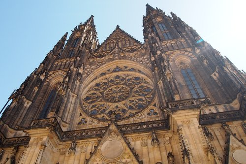the cathedral  prague  the czech republic