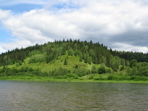 the chusovaya river perm krai sky