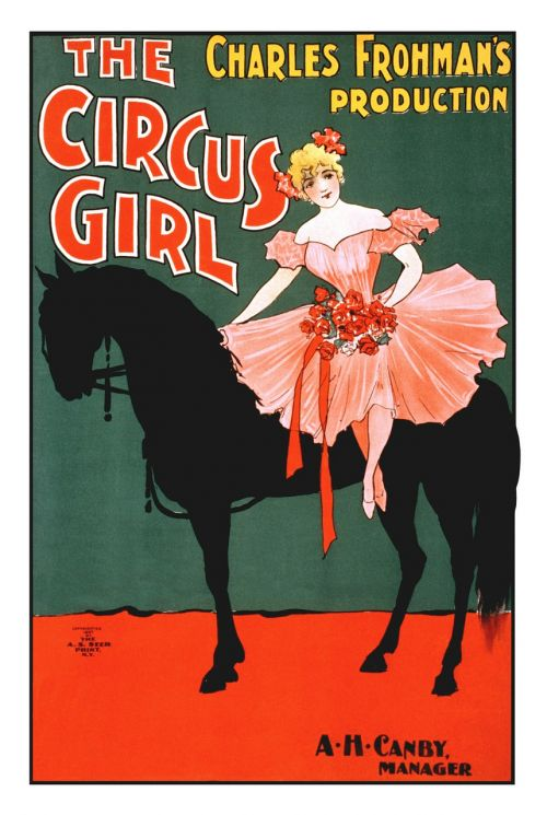 the circus girl vintage poster