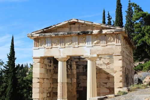 the city of athens the treasury of the delfi greek-antique treasure trove