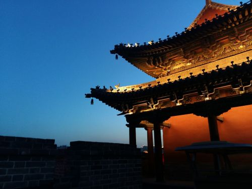 the city walls night view china