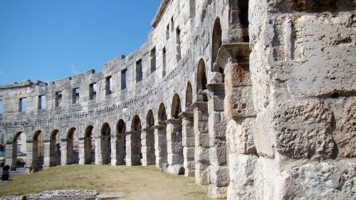 the coliseum pula croatia