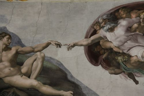 the creation of adam fresh in sistine chapel